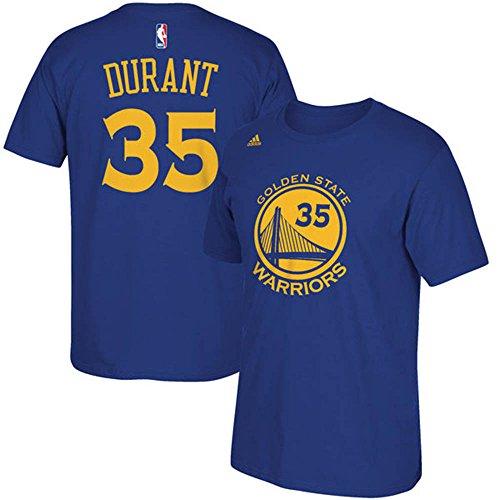 Adidas(アディダス) NBA ゴールデンステイト・ウォリアーズ ケビン・デュラント ネット ナンバー Tシャツ (ブルー) - M [並行輸入品]