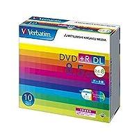 三菱化学メディア/DVD+R/DL / 8.5GB / PCデータ用 / 8倍速対応 / 10枚スリムケース入りワイド印刷可能 / DTR8510V1