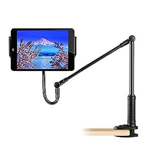 ZenCT 寝ながらタブレットスタンド スマホスタンド iPadスタンドアーム 安定ホルダー フレキシブルアーム スマホホルダー 下垂防止 ブラック CT041