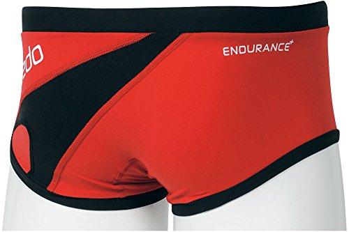 Speedo(スピード) メンズ 競泳水着 練習用 トレインボックス SD86X55 レッド×ブラック L