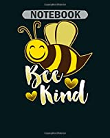 Notebook: bee kind bees needs you bumblebee print gift - 50 sheets, 100 pages - 8 x 10 inches