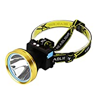 Afco 3/5W LEDヘッドライト 超明るい トーチ 充電式 USB 釣り キャンプ ランプ 370lm