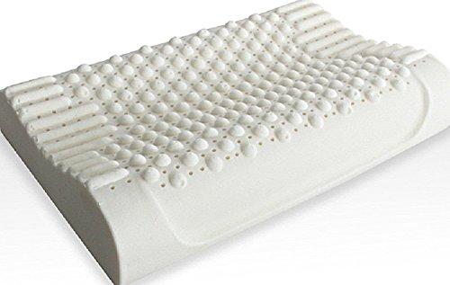 DITAI 枕 天然ラテックス 高反発枕 いびき防止 頸椎 首 頭を支える健康枕 快適 安眠 抗菌 防臭 防ダニ 柔らかい 枕カバー 贈る ギフトにも ホワイト