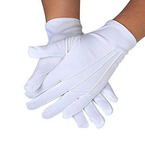 Smilemall フォーマル手袋 ナイロン手袋 ナイロン製 結婚式に グローブ/接客業/サービス業/メンズ