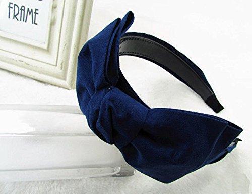 大きめ リボン で キュート な リボンカチューシャ めちゃ 可愛い !! 3色 から! ブラック ・ レッド ・ ネイビー (ブラック)