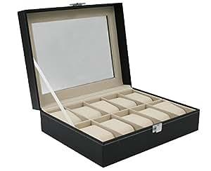 PURPLE 7 腕時計10本収納 ウォッチコレクションケース PUレザー