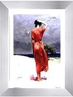 Beachside Stroll by Pino Daeni–6x 8インチ–アートプリントポスター LE_66700-F9935-6x8
