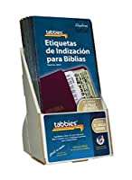 Tabbies / 58337 20 Pack with Display Spanish Large Print Gold-Edged Bible Indexing Tabs Old & New Testament + Catholic Books 96 Tabs (48337) [並行輸入品]
