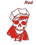 ノーブランド 赤 スケルトンセーラーステッカー スカル カリブ海の海賊 海賊 パイレーツ オブ カリビアン