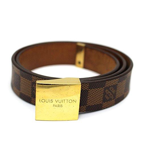 LOUIS VUITTON(ルイヴィトン) ダミエ ベルト サンチュール・キャレ M6979W エベヌ ブラウン (中古) LV アパレル レディース 茶色 ゴールド金具