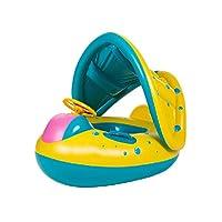 赤ちゃん 膨らませて 水泳リング と 調整可能 日よけのおおい 安全シート プールフロート にと乳児用16〜36ヶ月
