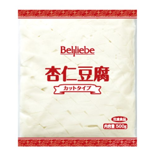 【業務用】ベルリーベ 杏仁豆腐 (カットタイプ) 冷凍