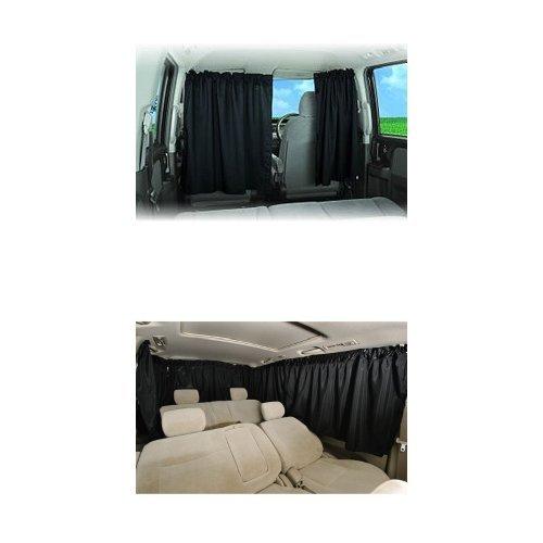 【おすすめセット】ゼンポー 車用 着脱簡単カーテン + 車用カーテン 車中泊 シャットカーテン リヤ...