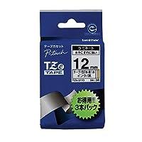 (まとめ買い) ブラザー ピータッチテープ ラミネートテープ 12mm 5m巻 3本パック TZE-31V3 【×3】