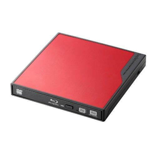 Logitec USB3.0対応 ポータブルブルーレイドライブ 3D再生 BDXLライティング付き 【USBバスパワー対応】レッド LBD-PME6U3VRD