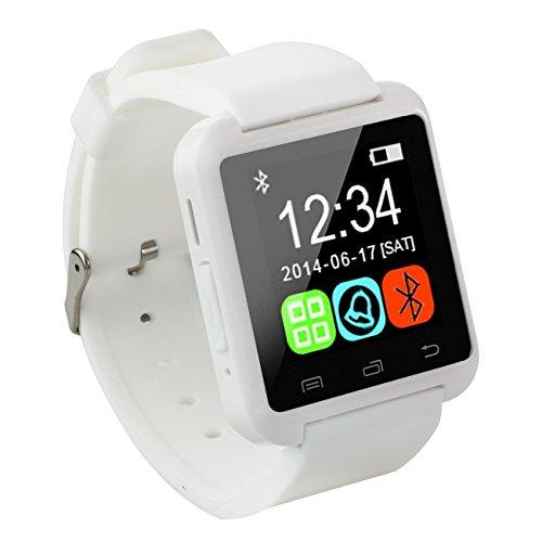 Antech Bluetooth smart watch U8 スマート ウォッチ 1.44インチ 超薄型フルタッチ ウォッチ 多機能 時計 健康 カメラ搭載ブルートゥース腕時計 通話対応来電通知 sim/TF対応 ボイスレコーダー 着信通知 時計 watch (白い)