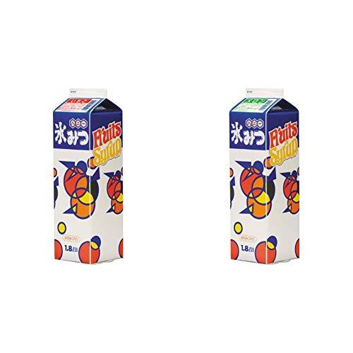 【セット買い】ハニー氷みつA イチゴ 1.8L & メロン 1.8L