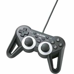 ELECOM PS3 USBゲームパッド 12ボタン 振動 連射 高耐久 ブラック JC-GMU3312SPBK