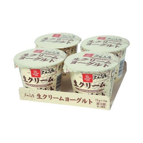 白バラ 大山高原生クリームヨーグルト/(75g×4個) ×6パック/24コ入 /クール便