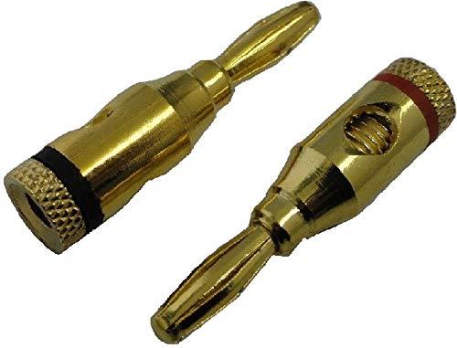 金メッキ リア接続 バナナクリック 赤1本 黒1本 4mm 1個入<1zi-204>
