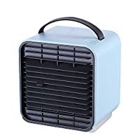 Beneray ミニエアコンファン ミニ扇風機 冷風機 USB卓上冷風扇 風量3段階切り替え 空気清浄機 マイナスイオン 夜間ライト 冷却機能 小型 軽量 省エネ ポータブル