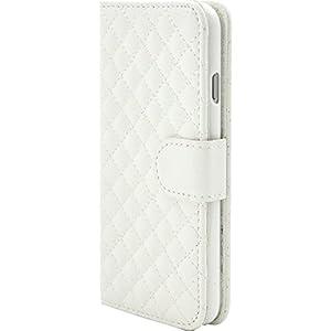 PLATA iPhone7 / iPhone8 ケース 手帳型 キルティング レザー ケース ポーチ iPhone アイフォン 7 8 カバー 【 ホワイト 白 しろ シロ white 】 IP7-5017WH