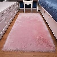 単色ぬいぐるみ 戻る 低反発座布団,ソフトノン-スリップフェイクファー 椅子のクッション 床マット ラグ・カーペット リビングルームベッドルームベッドルームソファベイウィンドウ用-b 100x70cm(39x28inch)