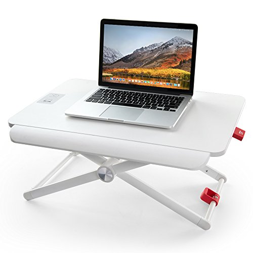TaoTronics 折りたたみデスク 高さ調整可能 ノートパソコンスタンド 座っても立っても使える ラップトップデスク ガススプリング スペース有効活用 衝撃吸収スプリング TT-SD001