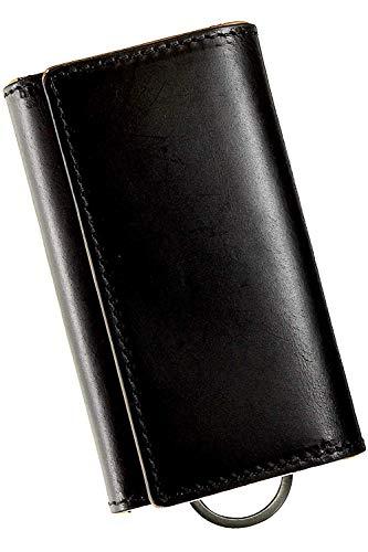 Eredità キーケース 革の王様ブッテーロレザーで制作 メンズ 4連 日本製-KC11 (黒)