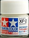 タミヤカラー アクリルミニ XF-2 フラットホワイト つや消し