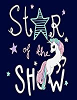 """Star Of The Show: Cornell Notes Notebook, Motivational Word Art Cover, Size 8.5"""" x 11"""", 120 Pages, Soft Matte Cover"""