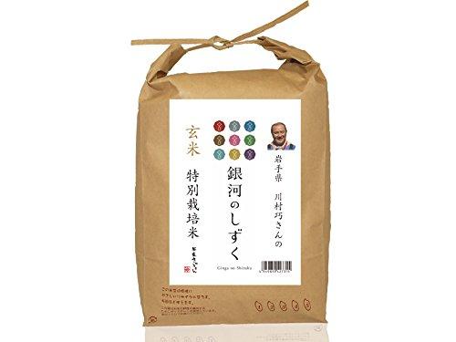 岩手県矢巾町産 川村巧さんのお米 特別栽培米 玄米 銀河のしずく 平成29年度産×5kg