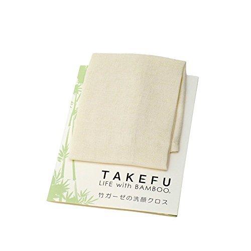 TAKEFU 竹の洗顔クロス ナチュラル 26×35cm (...