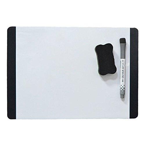 [해외]Villexun A4 드라이 와이프 화이트 자석 화이트 보드 메모 보드 냉장고 자석 비고 유연한 빅 일정 MAGNETIC 화이트 보드 시트 메모 보드 FRIDE DOOR 용 화이트 보드 마커 (브로드 사이드) (검정)/Villexun A4 Dry Wipe White Magnetic White Board M...