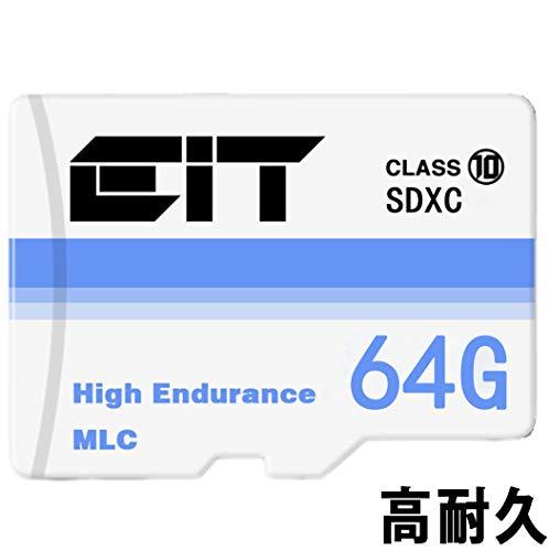 microsd 64gb class10 マイクロsdカード 高耐久 MLC フラッシュ採用 ドライブレコーダー 向け コスパ重視/メモリーカード/micro SD/sdxc/sdカード/tfカード / (ドライブレコーダ向け 64GB) (64GB)