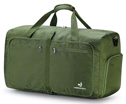 NEEKFOX 折りたたみ 旅行バッグ トラベルバッグ 折りたたみバッグ 大容量 軽量 防水 コンパクト 旅行 出張 整理用 60L (05.グリーン)