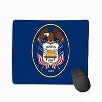 マウスパッドノンスリップゴムパーソナライズされたユニークなゲーミングマウスパッド米国州旗ユタイラスト