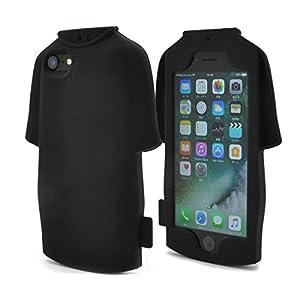 PLATA iPhone7/iPhone8 ケース Tシャツ ソフト シリコン ケース カバー iPhone アイフォン 7 8 【 ブラック 黒 くろ black 】 IP7-4040BK