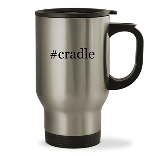 # Cradle ? 14オンスハッシュタグ頑丈なステンレス鋼旅行マグ シルバー US-P-04-17-02-013361-04-23