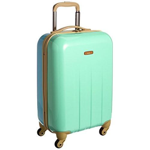 addy パステルツートンカラー スーツケース 「ビスケット」ファスナー式 4輪小型 Sサイズ 35L(1~3泊用) 南京錠付き ミント×アクア