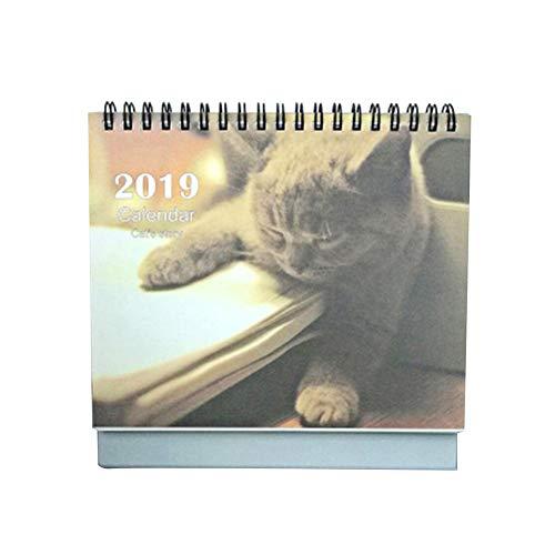 LUERME カレンダー2019 猫 卓上 B6 (【大:2...