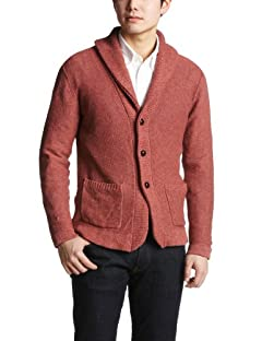 United Arrows Cotton Linen Shawl Collar Cardigan 1113-136-2663: Red