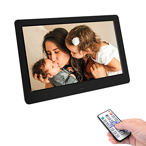 Tenswall デジタルフォトフレーム 7.0インチ 1024 * 600高解像度 IPS広視野角 液晶 写真10倍まで拡大可能/90°~360°回転可能/電子書籍/USBメモリー/SDカードは32GBまで対応/写真音楽動画再生/カレンダー/アラーム/自動オンオフ/タイマー/リモコン付き 良いギフト 日本語取扱説明書※正規品 PSE認証済み