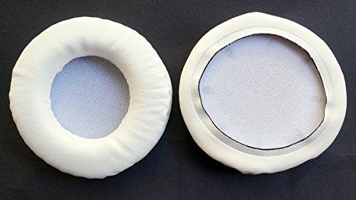Earpadsレザークッション修理パーツfor Pioneer se-mj751se-mj741se-mj721se-mj71ヘッドフォン( earmuffes )ヘッドセット耳パッド 72mm ホワイト