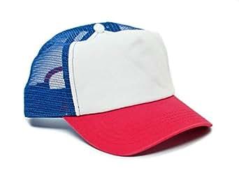 Stranger Thingsムービーキャップ帽子レッド/ホワイトコットンロイヤルメッシュユニセックス大人のスナップバック