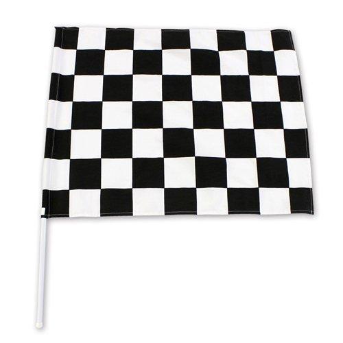 チェッカーフラッグ(60×78cm)黒/白【塩ビパイプ付】 レース/F1/モトクロス/競争/サッカー/応援