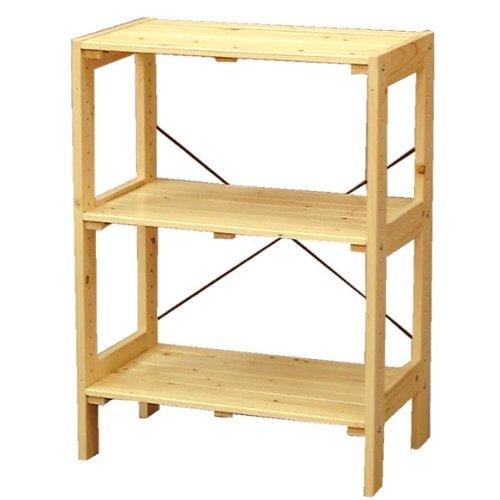 アイリスオーヤマ ラック 木製 幅58.5×奥行35×高さ80cm ウッディラック クリア WOR-5308