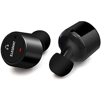 Bluetooth イヤホン ELEGIANT 高音質 軽量 左右独立型 ステレオサウンド ノイズキャンセル ワイヤレス ヘッドセット マイク内蔵 通話可 スポーツ 片耳 両耳 iPhone対応