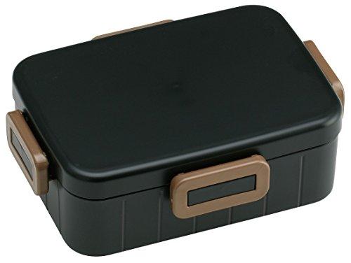 4点ロック 弁当箱 900ml 大容量 ランチボックス 1段 アースカラー ブラック メンズランチ 男性用 YZFL9
