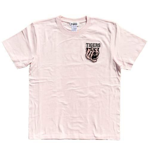 NPB 阪神タイガース グッズ 虎相楽刺繍Tシャツ(メンズ) (ピンク) - XL